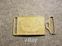 Civil War Federal New York State Sword Belt Plate Excavated Fredericksburg, VA