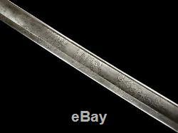 Civil War Foot Officer Sword Saber Nice Etched Blade J. P. Fitch NY