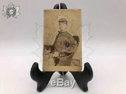Civil War Id'd CDV Petite's Battery Photograph Wounded 1st NY L. A