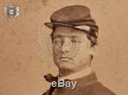 Civil War Id'd Carte De Visite Petite's Battery Photograph Wounded 1st NY L. A