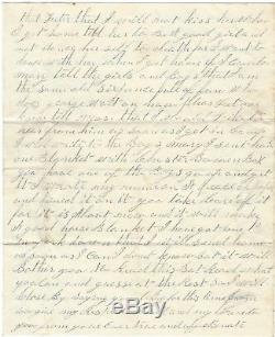 Civil War Letter 1st NY Dragoons On Orchard In Front Of Rebels, Shoulder Shot