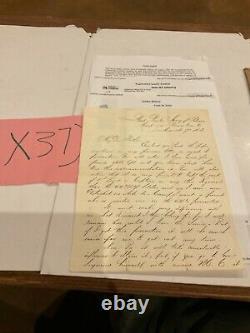 Civil War Letter Germantown Pa 1863 Gettysburg Veteran 44th NY Volunteers 37