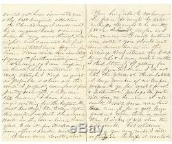 Civil War Letter Yankee Wounded in Gut May Not Survive Serious Injury-NY 17th