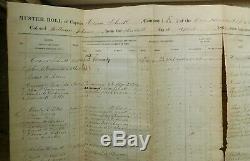Civil War Muster Roll 1863 Company K New York Volunteers Capt. Hiram Schutt