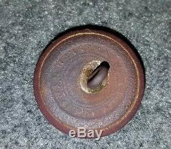 Civil War New York State Seal Button (NY 26 B) 23mm Dug Fredericksburg, Va