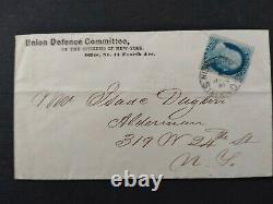 Civil War New York Station D (1861) #24 Union Defense Committee Cover