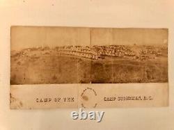 Civil War Panoramic Photo, 24th NY Cavalry, Camp Stoneman, D. C