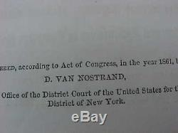 Civil War Period Book 1861 HAND BOOK For ACTIVE SERVICE 7TH Regiment New York