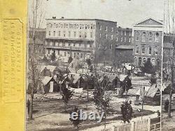 Civil War Photo Atlanta Georgia Camp 107th Regt New York troops yellow mount