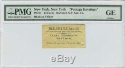 Civil War Postage Stamp Envelope Harlem & N. Y. Nav. Co. PE 311 25 Cents Legal