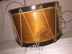 Civil War Rope Tension Field Drum 123rd New York Volunteer owned by A. Monaghan