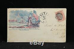 Civil War Roundout, NY 1860s #65 Patriotic Cover, Sumter First-Peace After