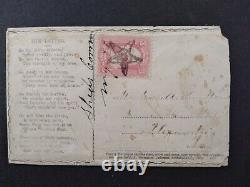 Civil War Shed's Corners, NY 1860s #65 Patriotic Cover, VERY FANCY STAR CANCEL