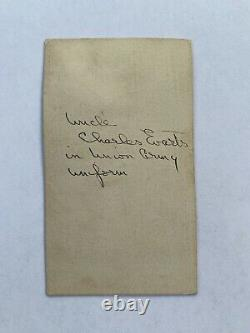 Civil War Soldier CDV Charles B. Evarts Lincoln Cavalry 1st New York