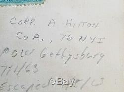 Civil War Soldier CDV Image ID'd A Hilton POW Gettysburg 97th NY KIA Wilderness