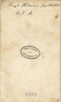 Civil War Soldier CDV Lieutenant Albert B. Holmes 11th New York Cavalry