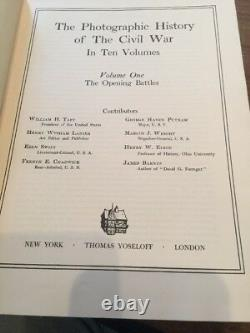 Civil War The Photographic History Of The Civil War 1957 In 10 Volumes in 5 Bks