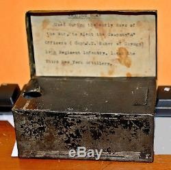 Civil War Third NY Artillery Capt John T. Baker Ballot Box