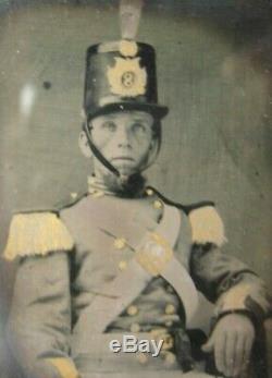 Civil War Tin Type Photograph 8th New York Volunteer Infantry