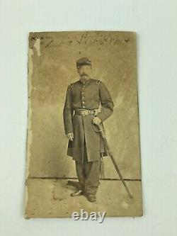 Civil War Uniform Officer With Sword 16th N. Y. H. A Identified Signed CDV Photo