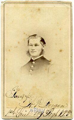 Civil War Union 1st Lieutenant Adrian Bergen 139th NY Infantry Signed CDV Photo