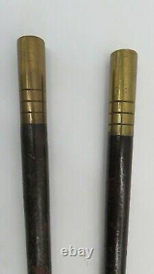 Civil war leather drum sling with drum sticks 5th NY Zouave