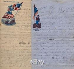 Co. H. 43rd New York Regiment / 6 Civil War Letters written and related 1874