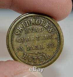 D. Skidmore Hotel Seneca Falls, NY Civil War Cigar Token RARE