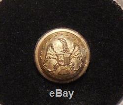 Dug Civil War New York state seal cuff button with Extra / Quality b/m