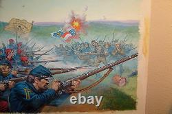 EARL NOREM PAINTING illustration civil war battle, NEW YORK ZOUAVES