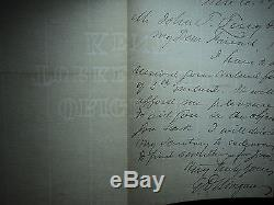 EDWIN D. MORGAN Civil War General / NY Governor Signed ALS Letter AUTHENTIC