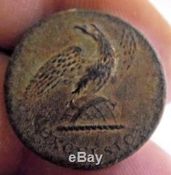 Excelsior New York RARE Early Antique US Military Uniform Button Civil War