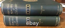Exceptional 1885 Personal Memoirs Of U. S. Grant 2 Volume Set Civil War
