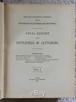 FINAL REPORT ON THE BATTLEFIELD OF GETTYSBURG New York Civil War 1902