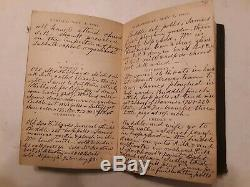 Federal army under Grant attacked by rebels CIVIL WAR ERA DIARY 1862 N. Y