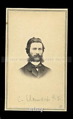 Fine 1860s CDV Dr. Chas Elmendorf Penn Yan New York Dentist Civil War Tax Stamp