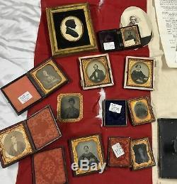 Fine Kingston New York Lambert Dubois CIVIL War Archive With Diary Flag Photos +
