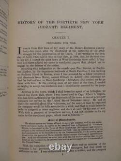 Fortieth (mozart) Regiment New York Volunteers 1909 First Edition CIVIL War