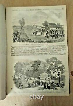 Frank Leslie's Illustrated Newspaper Bound Volume Weekly May 18 Nov 16 1861