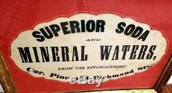 G Roesicke Spruce St New York City Civil War Soda Advertising 1860s Antique Sign