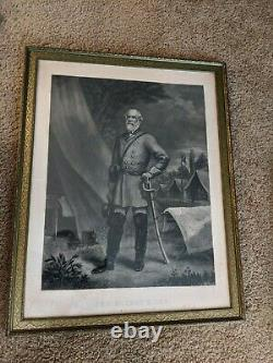 Gen. Robert E Lee Engraved Portrait by J. C. McRae / Brady 1867 30x24