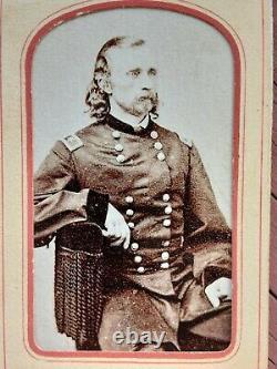 General George Armstrong Custer CDV-FREDERICKS NY-Civil War Rarity
