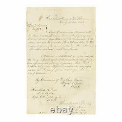 Gettysburg 1863 Civil War Order Sgd by Officers of 84th New York / 14th Brooklyn