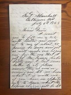 Gettysburg Battle Content July 6 1863 Civil War Letter 8th NY Heavy Artillery