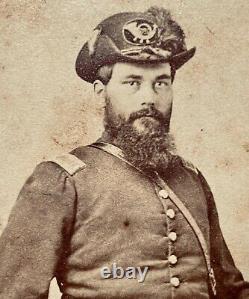 Gettysburg Civil War CDV Photo Signed 111th New York John S. Coe Armed