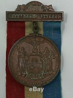 Gettysburg GAR New York 1893 Medal Veterans bronze Civil War Commemorative