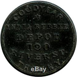 Goodyear India Rubber Depot Troy New York Hard Rubber Civil War Fred Plum Token