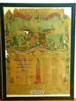 Gorgeous Rescued Original CIVIL War 1862 117th New York Infantry Regt Memorial