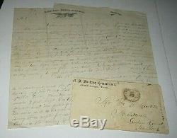 Grouping Of 8 CIVIL War Letters Circa 1863-1865 Curtiss Platt Co. 1 Ny Vols