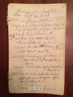 Handwritten Civil War Union Officer's Reminiscences, New York 44th Vol Infantry